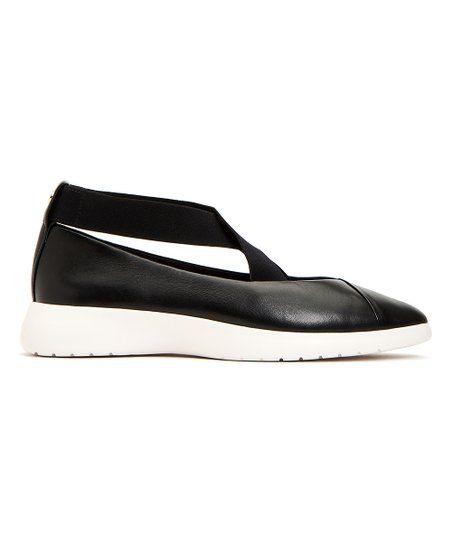 Taryn Rose Black Danielle Strap Leather