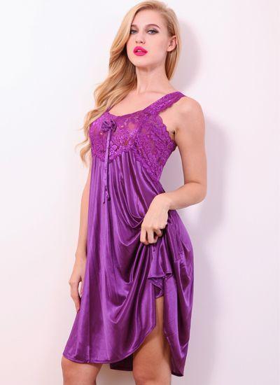 Femme Nuisette Chemise de nuit Sleepwear Nightwear Plus Taille Negligee Donna