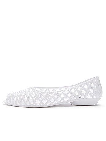 fd9ae3784c50 Flat Lattice Jelly Sandal