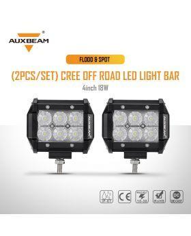 2pcs Set 4 18w Cree Flood Spot Beam Off Road Led Work Light Bar Led Light Bars Bar Lighting Led Lights