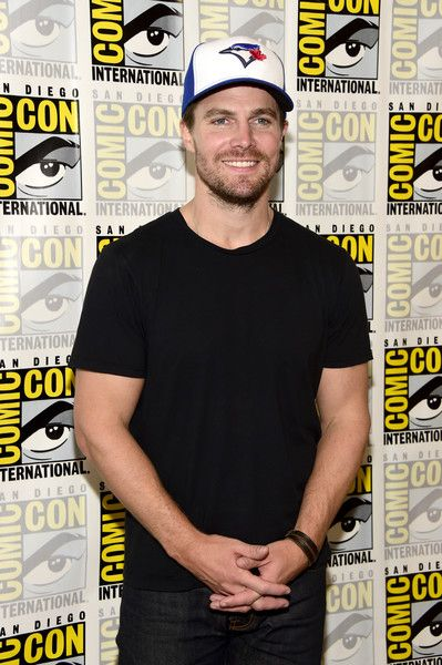 Actor Stephen Amell attends the 'Arrow' Press Line during Comic-Con.