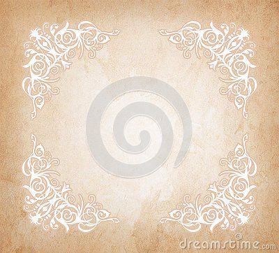 Pastel Light Vignette Vintage Wedding Invitation Gritting Card Background Design With The Texture Of Grunge Old Pape Retro Background Old Paper Ornament Frame