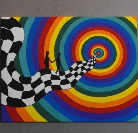 Ideas De Pintura Sobre Lienzo Trippy 22 Ideas Ideas Lienzo Paintings Aesthetic Pintura Sobre Trippy Trippy Painting Hippie Painting Small Canvas Art