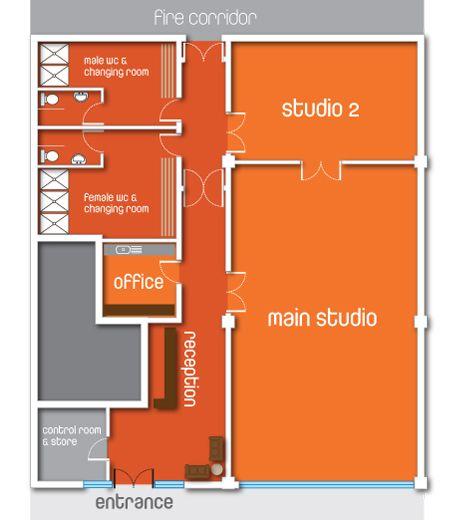 Small Dance Studio Floor Plan | TheFloors.Co