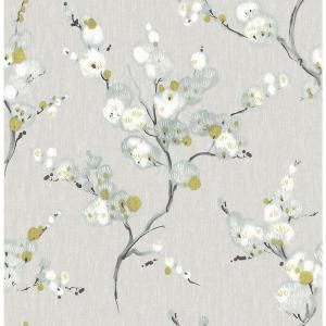 Nuwallpaper Mirei Vinyl Strippable Roll Covers 30 75 Sq Ft Nu2679 The Home Depot Nuwallpaper Peel And Stick Wallpaper Floral Wallpaper