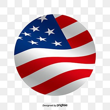 The American Flag Flying With The Wind In A Cartoon Circle Element Cartoon National Flag Png And Vector With Transparent Background For Free Download American Flags Flying Geometric Background National Flag