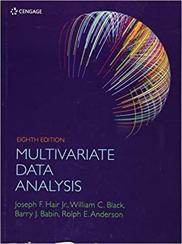 Multivariate Data Analysis 8th 8e By Joseph Hair Data Analysis Analysis Data