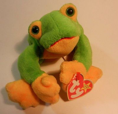 24b311b6cae TY-Beanie-Baby-Frog-Smoochy-Bdate-October-1-1997-Original-Retired-w-Tag -Errors