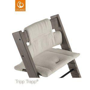 Timeless Grey Stokke Tripp Trapp Organic Cotton Classic Cushion
