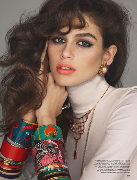 EDITORIAL: Love Magazine Spring 2018 Kaia Gerber wearing vintage Chanel earrings and Hermes jewelry in Spring 2018 issue of Love magazine