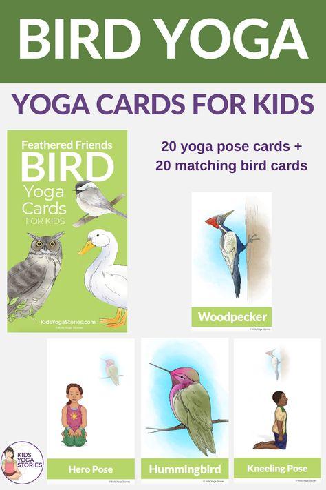 Bird Yoga Cards For Kids Yoga For Kids Yoga Cards Kid Yoga Lesson Plans