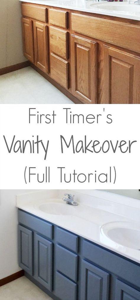 Bathroom Vanity Makeover U2013 Easy DIY Home Paint Project | Painted Bathroom  Cabinets, Paint Bathroom And Bathroom Cabinets