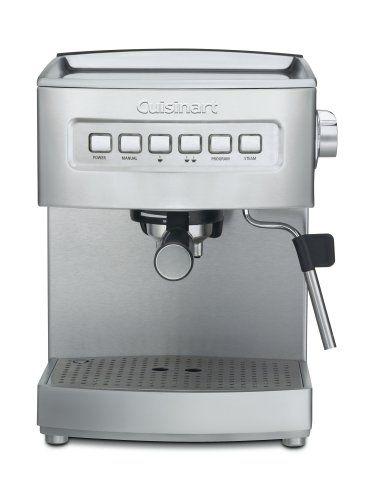Cuisinart Em 200 Programmable 15 Bar Espresso Maker Stainless Steel 182 00 Espresso Espresso Machine Reviews Best Espresso Machine