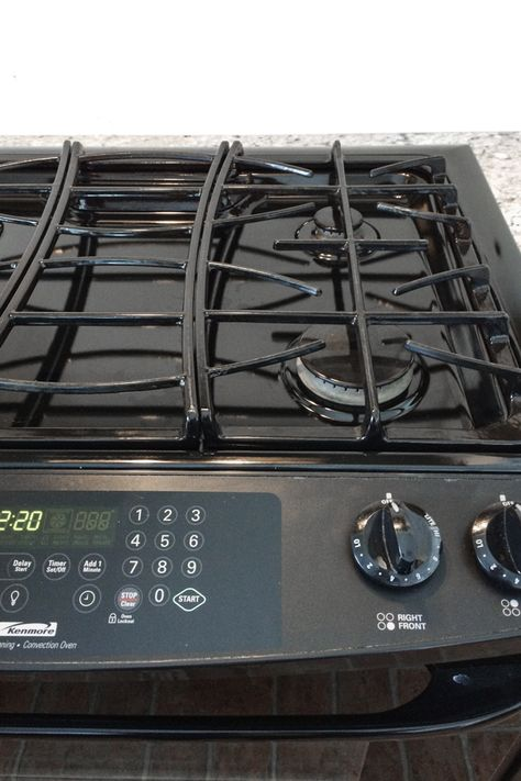 You Will Love This It S Such An Easy Idea For How To Clean A Really Dirty Gas Stovetop We Moved Into Our House Monthonths Ago And Came With