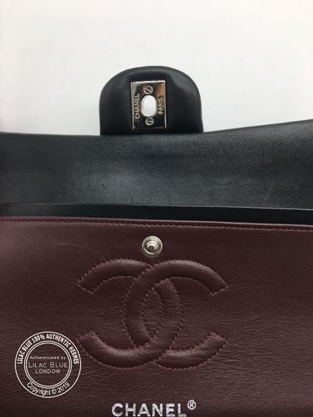 Chanel Classic Flap Bag Medium Black Lambskin Silver Preloved In 2020 Chanel Classic Flap Medium Bags Kelly Bag