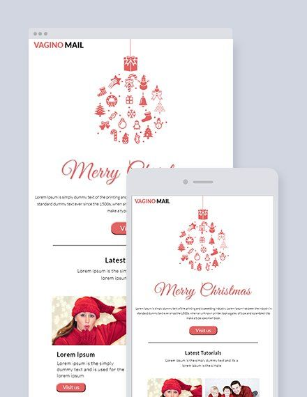 Free Christmas Email Newsletter Template Psd Html5 Outlook Email Newsletter Template Newsletter Templates Free Invitations
