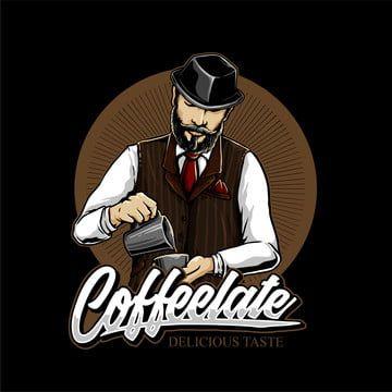 خلاطات القهوة في مقهى شعار تصميم ناقلات السبورة مادة الكافيين رسومات الشعار المبتكرة Png والمتجهات للتحميل مجانا Coffee Shop Logo Design Coffee Shop Logo Shop Logo Design
