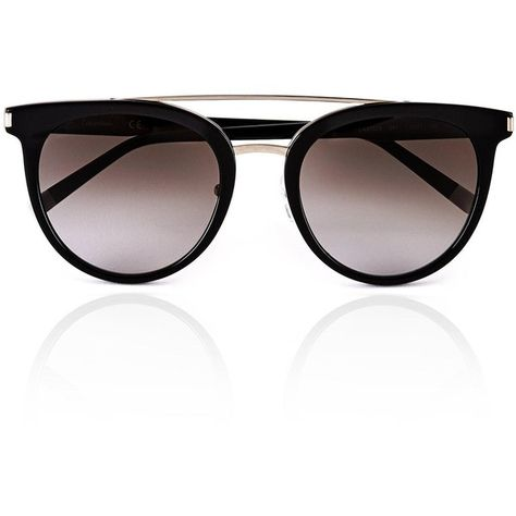 af926c38f041 Calvin Klein Double Bar Cat Eye Sunglasses (8,055 MKD) ❤ liked on Polyvore  featuring accessories, eyewear, sunglasses, glasses, black, cateye  sunglasses, ...