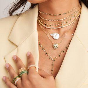 أفخم تشكيلة مجوهرات وحلي نسائية مجوهرات وحلي نسائية ماركات فينسورا Vensora Womens Necklaces Beaded Jewelry Stone Choker