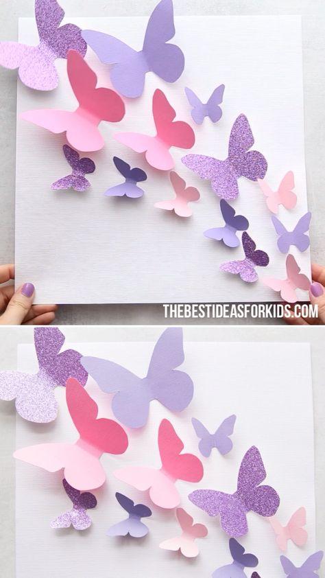 PAPER BUTTERFLY 🦋- such a fun paper craft for kids! #bestideasforkids