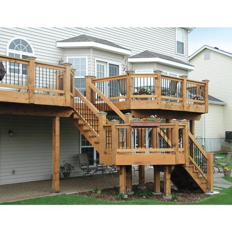 2 In X 4 In X 8 Ft 2 Ground Contact Pressure Treated Lumber 106147 The Home Depot Deck Designs Backyard Pool Deck Plans Deck Design