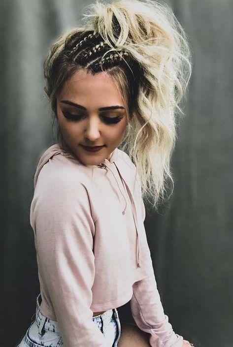 Fácil peinados de rockera Fotos de cortes de pelo tendencias - Trenza Peinados De Rockera - ideas de peinado