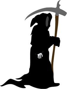 free grim reaper silhouette vector clip art grim reaper clip art rh pinterest com grim reaper clipart black and white