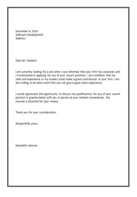 software tester application letter sample Job Application ...
