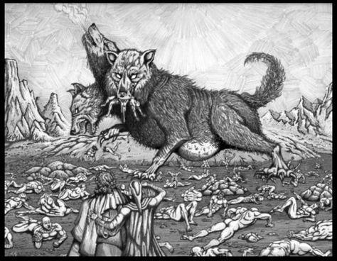 Cerberus 3 Headed Dog Articulated Paper Doll Hellhound of the Underworld