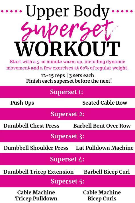Upper Body Superset Workout