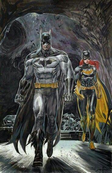 Batman and Batgirl in the Batcave!