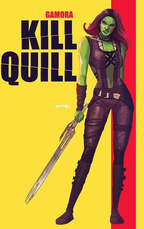 Photo of KILL BILL and GUARDIANS OF THE GALAXY Mashup Poster – Kill Quill — GeekTyrant