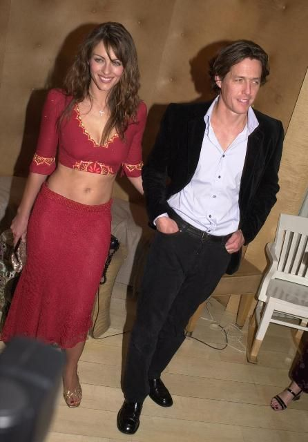 22 Candid Photographs of Hugh Grant and Elizabeth Hurley, One of the Hottest Couples in the ~ vintage everyday