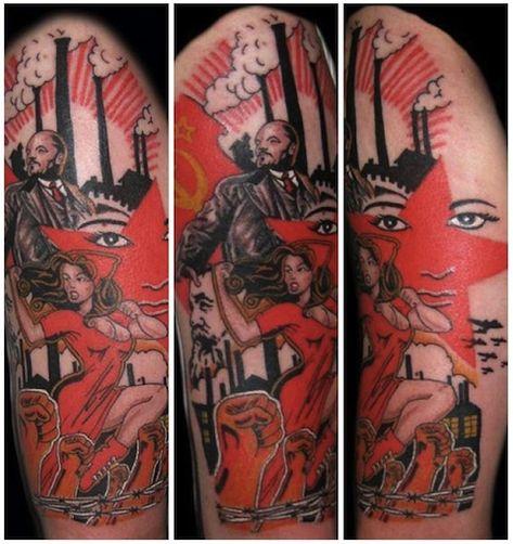1917 Revolution Tattoo by Richie Vomit