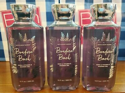 Ad Bath Body Works Bonfire Bash Shower Gel 10 Oz Lot Of 3 In