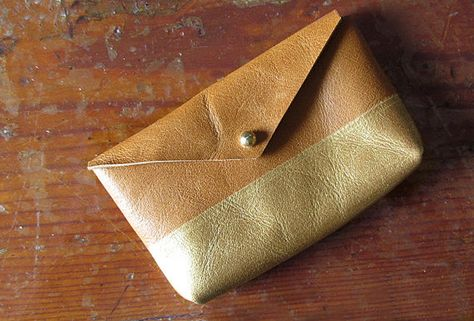 Gold Dipped Business Card Holder.
