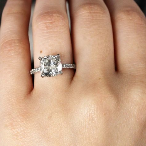 787883731f432 Tiffany & Co. Platinum NOVO Square Cushion Diamond Engagement Ring ...