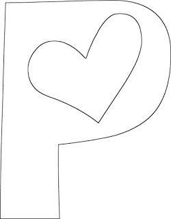 Moldes De Letras Coracao Para Imprimir Baixar O Alfabeto