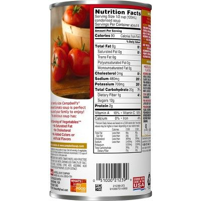 Campbell S Condensed Family Size Tomato Soup 23 2oz Food Pairings Tomato Soup Ultimate Comfort Food