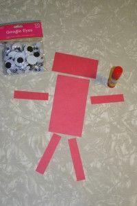 Red Rectangle Robot Craft S H A P E S Rechteck