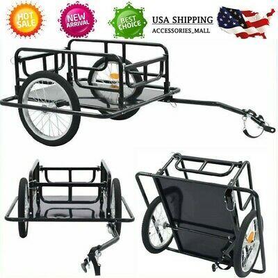 Sponsored Ebay Universal Trailer Bicycle Bike Cargo Trailer Utility Luggage Cart Carrier Black Carretinha