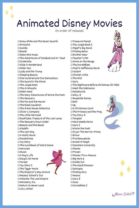 88 Animated Disney Movies That You Need To Watch | Moms Collab