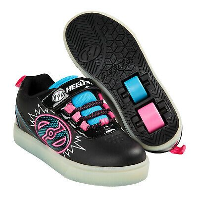 Heelys Unisex X2 POW Lighted Roller Sneakers Skate Shoes Kids Two Wheel Trainers