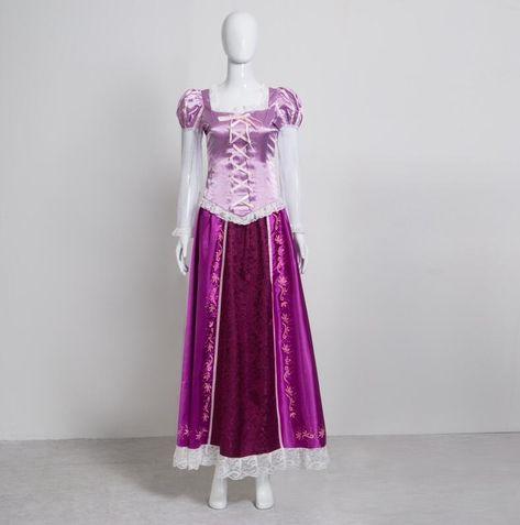 2017 Halloween Princess Rapunzel Dress Tangled Adult Women Cosplay Costume #Unbranded