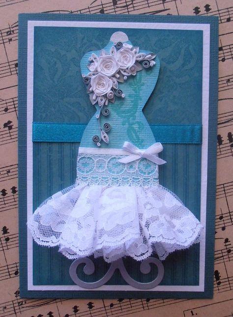 Поздравлениями, открытка своими руками девочка в платье