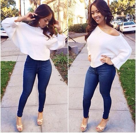 New Women White Plain Dolman Sleeve One Shoulder Loose Casual Pullover Sweater