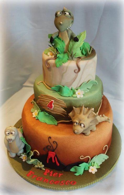 Dinosaure Comestible Handmade Cake Topper Mignon T-Rex Triceratops