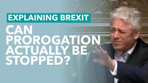 Can Anyone Stop Johnson's Prorogation - Brexit Explained
