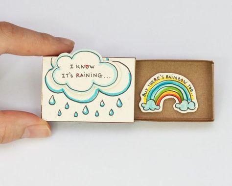 Mignon Fun Encouragement carte Matchbox / coffret cadeau /   Etsy