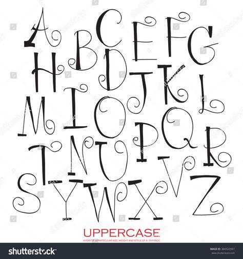 Hand drawn written Upper case letters of red chalk black pencil alphabet hand drawn written Hand Lettering Alphabet, Chalk Lettering, Doodle Lettering, Creative Lettering, Lettering Styles, Calligraphy Letters, Brush Lettering, Handwriting Fonts Alphabet, Doodle Alphabet